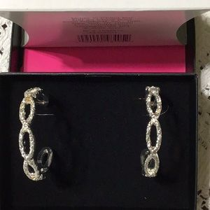 NWOT Rhinestone Hoop Earrings